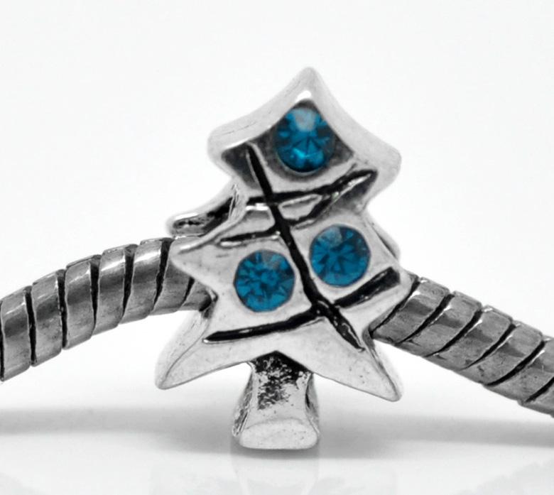 Kerstboom Pandora.Kerstboom Met Blauwe Rijnsteentjes Pandora Style Heelveelbedels Voor Bedels En Sieradenhobby En Sieraden