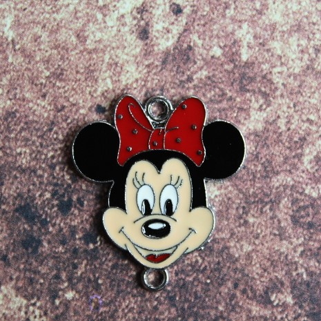 Emaille connector Minnie Mouse