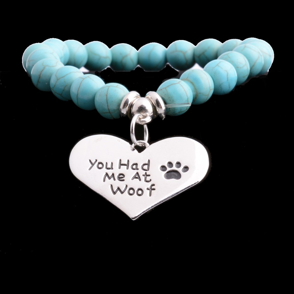 \'you had me at woof\' armband