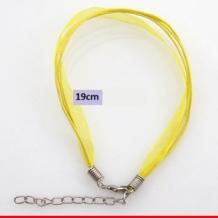 Armband met 3 koordjes en organza
