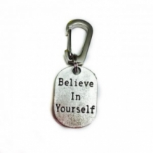 ''Believe in yourself'' sleutelhanger