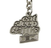 eat sleep game sleutelhanger