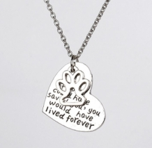 if love could have saved you, you would have lived forever - ketting met hondenpootje