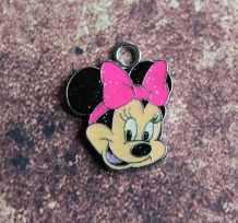 Emaille Minnie Mouse met glitter