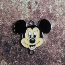 Emaille connector Mickey Mouse