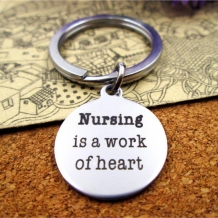 Nursing is a work of heart sleutelhanger