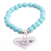 'you had me at woof' armband