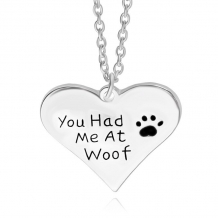 'you had me at woof' ketting